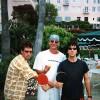 Stone Gossard, David Schoelles & Eddie Vedder of Pearl Jam